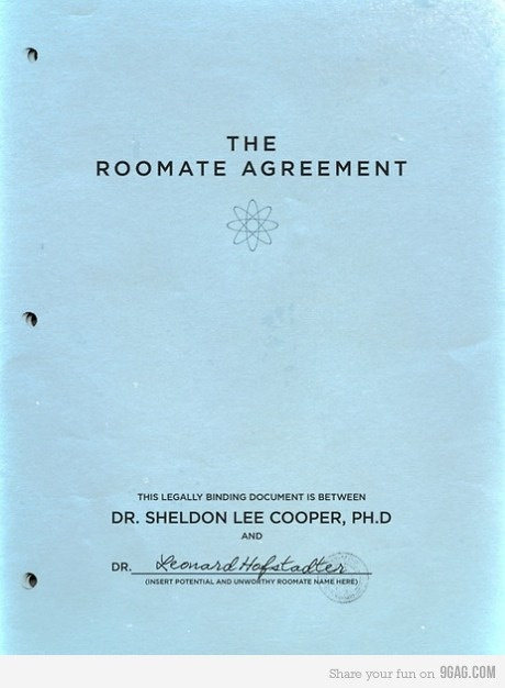 Sheldon'S Roommate Agreement – In Akoma Ntoso – Legix.Info